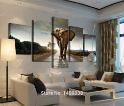 popular elephant framed art buy cheap elephant framed art lots 5 panel elephant painting wall art picture home decoration living room print painting modern canvas prints