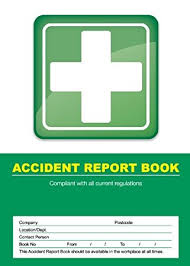 accident reporting book hi glo accident record book amazon co uk office products