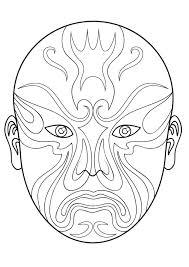 chinese opera mask 3 free download coloring art u0026 culture