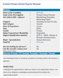 Sample Of Resume For Teachers Job by Teacher Resumes 26 Free Word Pdf Documents Download Free