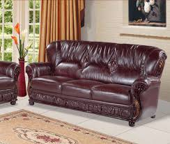 Burgundy Leather Sofa Set Best Place For Leather Couches And Sofa Set