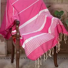 grand jeté de canapé grand jeté de canapé 2x3m en coton deux couleurs fushia et rayures