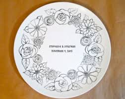 personalized ceramic platters wedding platters etsy