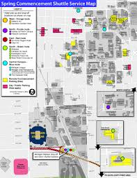Ann Arbor Michigan Map by Shuttle Map Spring Commencement