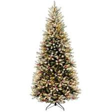 pre lit christmas tree buy national tree company snowy dunhill slim pre lit christmas