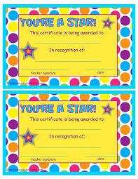 preschool certificates best 25 award certificates ideas on award template