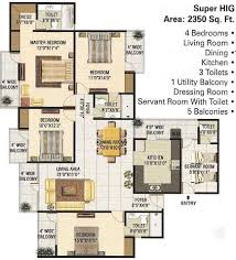Sq Ft 2350 Sq Ft 4 Bhk 3t Apartment For Sale In Panchsheel Greens Sector