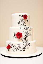 Hand Painted Black And White Wedding Cake Cakecentral Com