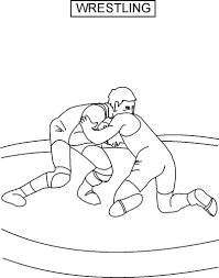 wrestling coloring pages lezardufeu com