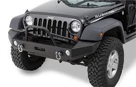 jeep front grill guard warrior products 59950 full width front winch bumper with brush