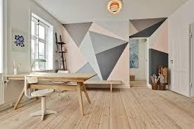 peinture pour bureau peinture décorative dessin géométrique sublimez les murs