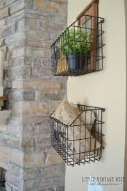 Hanging Pictures On Wall by Farmhouse Style Decorating With Wire Baskets Little Vintage Nest