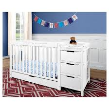 Crib And Changing Table Graco Remi 4 In 1 Convertible Crib And Changer Target