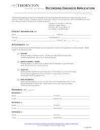 Standard Resume Sample by Audio Recording Engineer Cover Letter