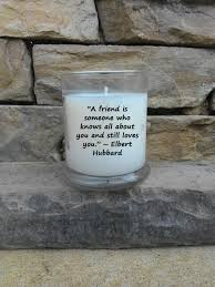 friendship 12oz soy blend candle quote candle friends gift