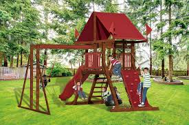 sk 10 mountain climber best kids backyard playset swing kingdom