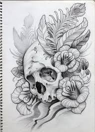 pictures skull drawings sketches drawing art gallery