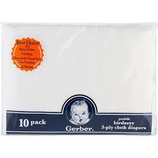 amazon com gerber birdseye 3 ply prefold cloth diapers white
