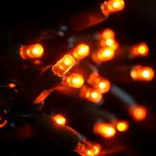 20 orange 5mm led craft lights green wire