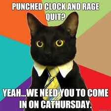 Rage Quit Meme - punched clock and rage quit cat meme cat planet cat planet