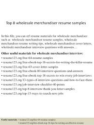 top 8 wholesale merchandiser resume samples 1 638 jpg cb u003d1433251763