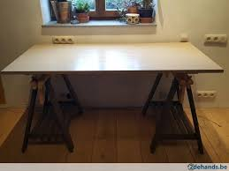 bureau traiteau bureau treteau table ikea te koop 2dehands be