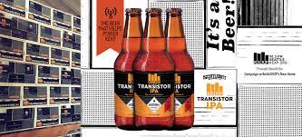 kexp transistor ipa beer packaging on behance