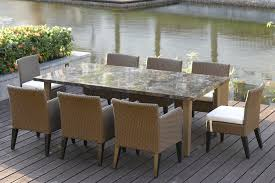 Charming Ideas Outdoor Dining Table Sets Lofty Design White - Upscale outdoor furniture
