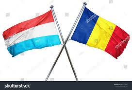 Flag Romania Luxembourg Flag Romania Flag 3d Rendering Stock Illustration