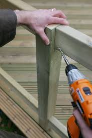 Newel Post To Handrail Fixing Fitting Decking Balustrades Q Deck