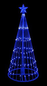 led christmas tree 6 blue led light show cone christmas tree lighted