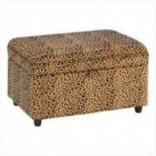 Animal Print Storage Ottoman Animal Print Ottomans Foter