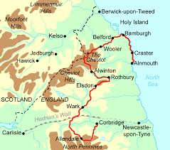 Newcastle England Map by Reivers Way Walking Holidays And Hiking Tours In England