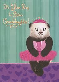 panda bear ballerina top fold pop up granddaughter birthday card