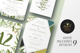 wedding invitation suite botanika invitation templates