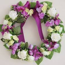 Fake Flowers For Home Decor Aliexpress Com Buy Purple Rose Artificial Flowers Wreath Garland