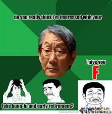 Asian Teacher Meme - asian teacher give you f by jumbodaigo meme center