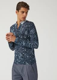 sweater in sweater in printed jersey for emporio armani