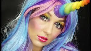 unicorn halloween e10 rainbow unicorn halloween makeup tutorial youtube