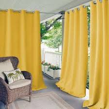 Yellow Curtains For Bedroom Grommet Yellow Curtains Drapes Window Treatments The Design Ideas