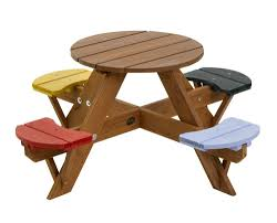 childrens bench and table set garden childrens picnic set wooden table chairs 4 coloured
