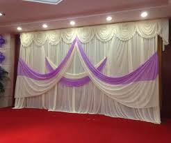 20 Ft Curtains Wedding Backdrop Curtains 10ft 20ft White Purple