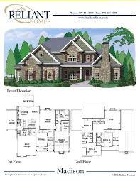 Sle Floor Plans 2 Story Home | reliant homes the madison plan floor plans homes homes for