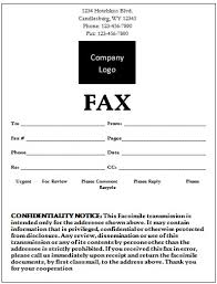 free fax format examples templates educationalresume or