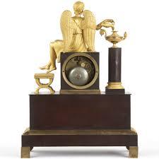 Mantel Clocks Antique French Napoleon Iii Antique Bronze Mantel Clock W Winged Figural