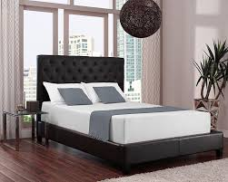 bedroom types of beds dark wood frame also tufted leather