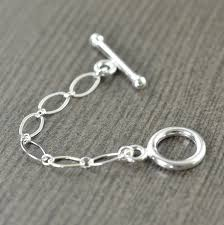 sterling silver necklace clasp images Sterling silver toggle clasp extender necklace extension 2 jpg