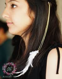 hair online india hairclip white feather hair extension online shopping india