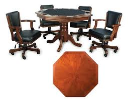 wood octagon poker table set poker table and chairs set