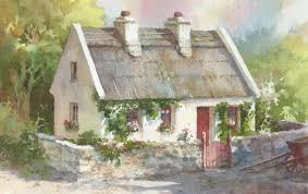 Painting Of House by New Paintings Of Thatched Cottages In Ireland U2013 Roland Lee